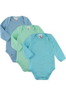 Body Era Uma Vez Para Bebê Kit Com 3 Peças Em Suedine Para Menino