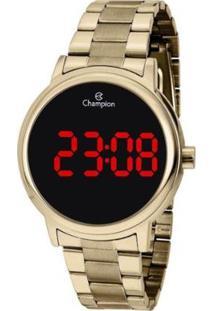 Relógio Champion Digital Ch40115H Feminino - Feminino-Dourado