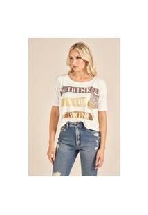T-Shirt Blanc Lettering Metalizado Off White Pp
