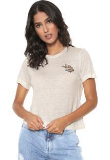 Camiseta Linho Iódice Manuella Off-White