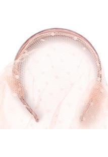 Red Valentino Headband Com Detalhe De Véu - Rosa