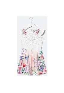Vestido Infantil Com Estampa Floral E Strass - Tam 5 A 14 Anos | Fuzarka (5 A 14 Anos) | Multicores | 13-14