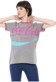 Camiseta Coca-Cola Jeans Estampada Cinza