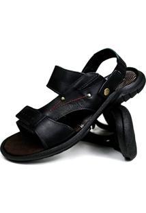 Sandália Super Confortável Casual Way Boots Aberta Preta