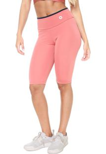 Bermuda Area Sports Slim Logo Rosa