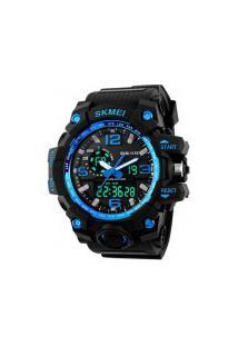 Relógio Digital E Analógico S-Shock Skmei 1155 - Azul