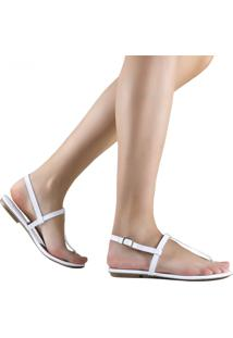 Sandália Zariff Shoes Rasteira Casual Branco