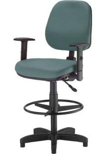Cadeira Corporate Executiva Cor Verde Com Base Caixa - 43994 - Sun House
