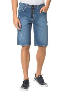 Bermuda Jeans Five Pockets - Marinho - 36