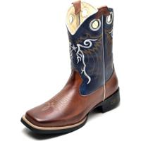 3c8e84f8d1712 Bota Country Bico Quadrado Top Franca Shoes Pinhao   Azul