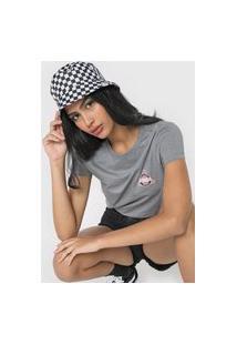 Camiseta Vans Checker Strand Cinza