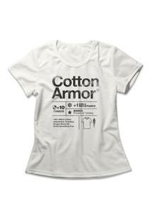 Camiseta Feminina Cotton Armor Off-White