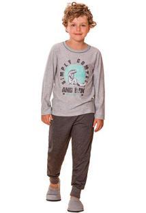 Pijama Menino Longo Listrado Dinossauro Pai E Filho Luna Cuore