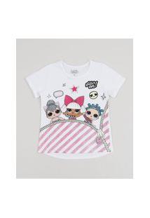 Blusa Infantil Lol Surprise Manga Curta Off White