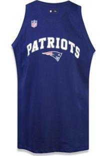 Regata New England Patriots Nfl New Era Masculina - Masculino-Marinho
