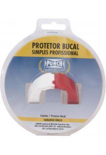 Protetor Bucal Punch Dual Color - Branco/Vermelho