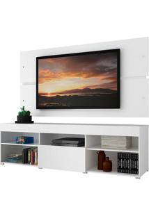 Rack Com Painel Para Tv Até 65 Polegadas Madesa Havaí 1 Porta - Branco