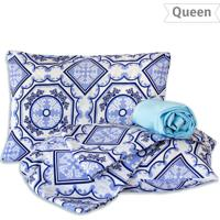 537dd59a70 Dinda. Jogo De Lençol Queen Geométrico 4 Pçs - Marina Bordados