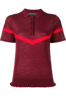 Cashmere In Love Camisa Polo 'Jean' De Tricô - Vermelho