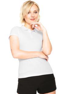 44f345aa29 Camisa Polo Manga Curta Malwee Botões Branca
