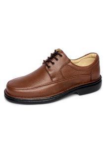 Sapato Em Couro Conforto Franca Brasil Tipo Anti Estresse Chocolate