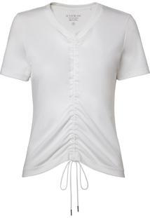 Camiseta Le Lis Blanc Wanda Malha Algodão Off White Feminina (Off White, Gg)