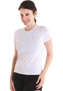 Camiseta Líquido Basic Fit Feminina - Feminino-Branco