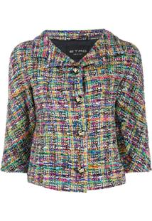 Etro Jaqueta Cropped De Tweed - Neutro