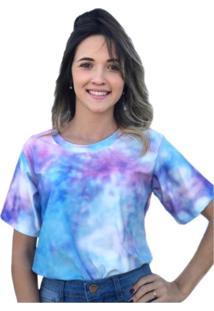 Camiseta D Bell Tie Dye - Coral - Feminino - Dafiti