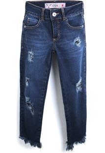 Calça Jeans Colcci Fun Menina Lisa Azul