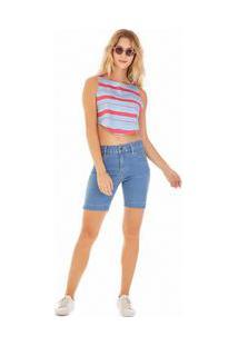 Bermuda Slim Basica Jeans 40