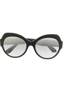 Dolce & Gabbana Eyewear Óculos De Sol Oversized Redondo - Preto