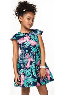 Vestido Infantil Em Tecido Acetinado Com Forro