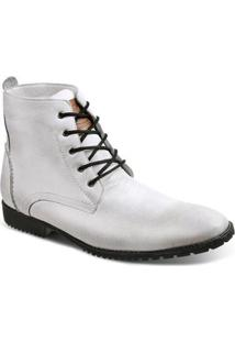 Bota Dress Boot Masculina Sandro & Co Rall White - Masculino-Branco