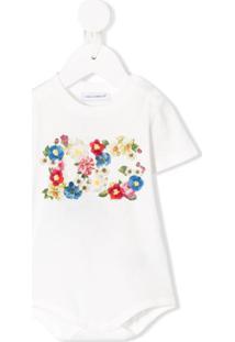 Dolce & Gabbana Kids Body Dg Com Estampa Floral - Branco