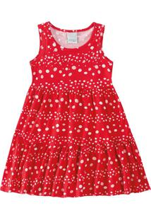 Vestido Evasê Com Strass Infantil Malwee Kids