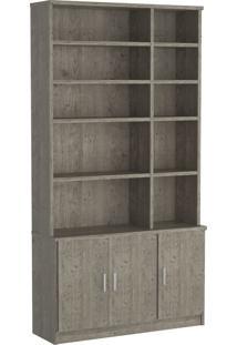 Estante Livraria 3 Portas 1280 Demolição M Foscarini Cinza