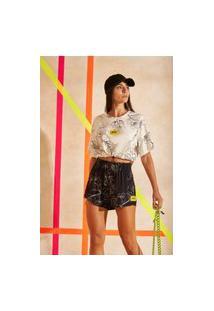 Camiseta Estampada Colcci - Lila Off Vertic