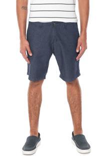 Bermuda Jeans Aleatory Chino Estampada Azul - Kanui