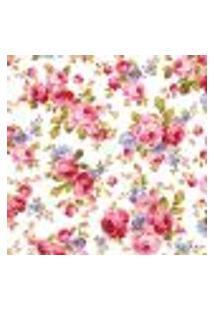 Papel De Parede Adesivo Rosas Coloridas 2,70X0,57M