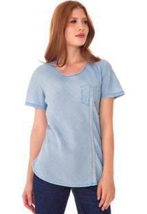 T-Shirt Jeans Express Cora Azul