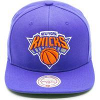 Boné Mitchell   Ness Lã Solid Nba New York Knicks Snapback Azul a085d04265d