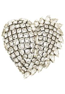 Saint Laurent Broche 'Smoking Heart' - Metálico