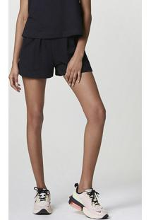Shorts Feminino Em Malha De Algodão