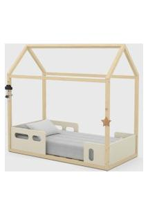 Mini Cama Liv Off White / Natural