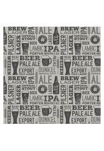 Papel De Parede Bar Cervejas Cozinha 57X270Cm