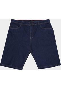 Bermuda Jeans Nicoboco Guerrero Masculina - Masculino-Marinho