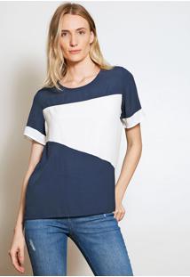 Camiseta Forum Color Block Azul - Kanui
