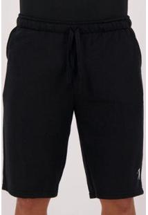 Bermuda Moletom Golf Collection - Masculino-Preto