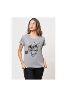 Camiseta Jay Jay Básica My Half Cinza Mescla